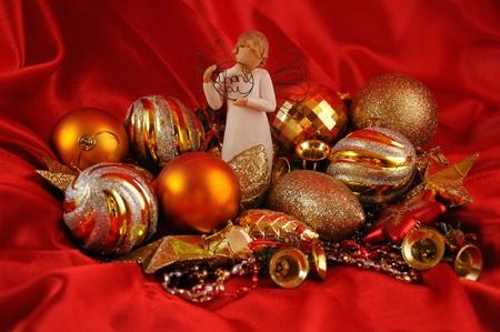 Gold Christmas Stock Photo