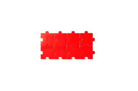 Red Puzzles Stock Photo