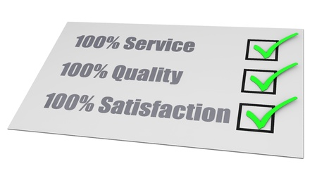 confirmed: Service Quality Satisfaction Check List