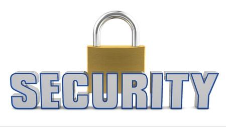 Security padlock photo