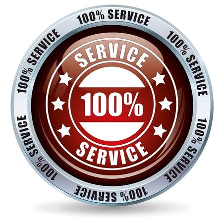 help button: 100  Service Button