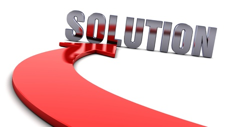 business solution: Solution - Red arrow