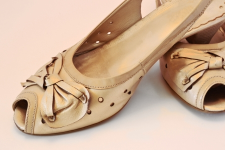 Gold shoes photo