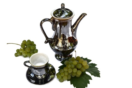 coffee pot and cup Stock Photo - 17701540