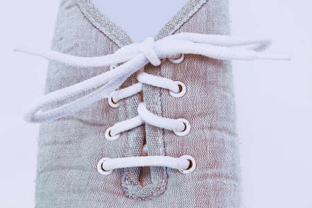 denim shoes with laces Stock Photo - 17920139