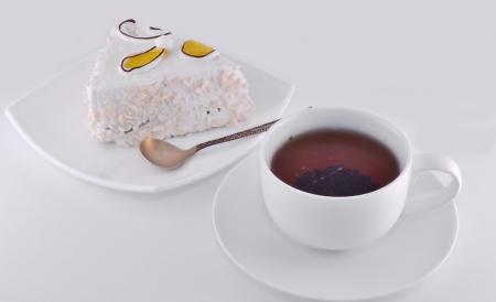 fresh tea and cake photo