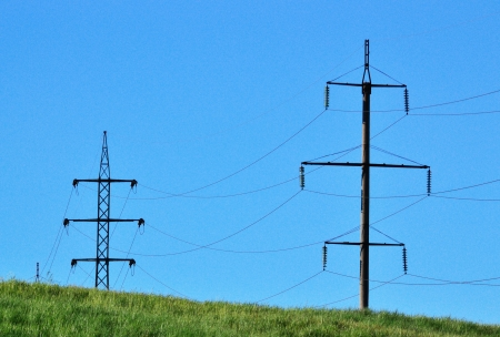 wire power lines photo