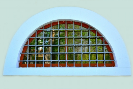 window with bars photo