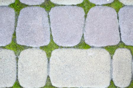 flagstone: path of stones Stock Photo