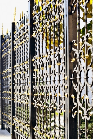 ornamental metal fence Stock Photo