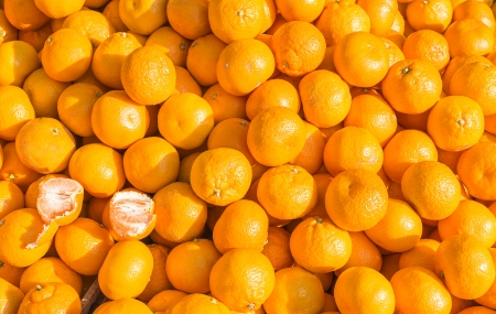 background is tangerine Stock Photo