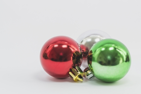 Three Christmas  ball
