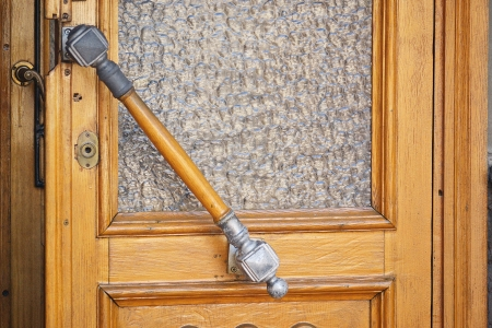wooden door handle photo