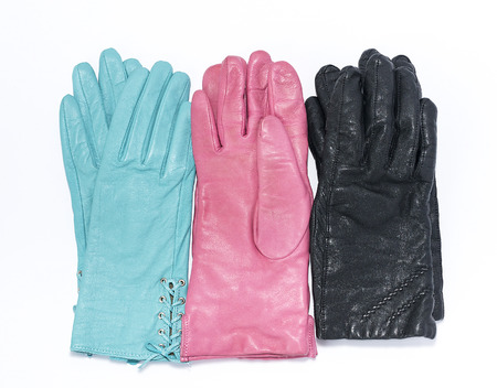furskin: several pairs of leather gloves