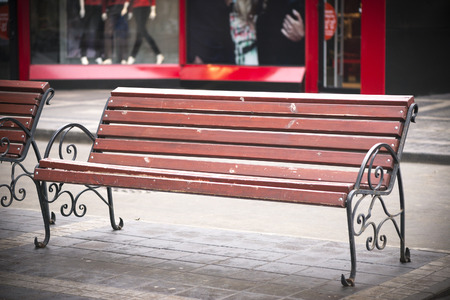 city bench photo