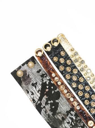 bracelets made of leather photo