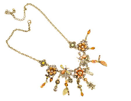 Womens necklace with floral motifs