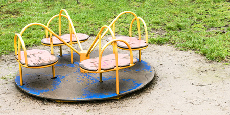old playground after rain photo