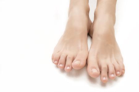 pies descalzos: pies muchacha adolescente