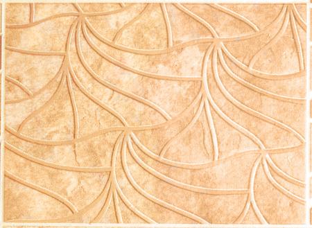 linoleum: ornament on beige linoleum