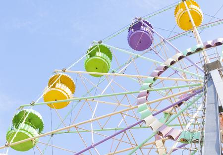 a Ferris wheel in a park close-up