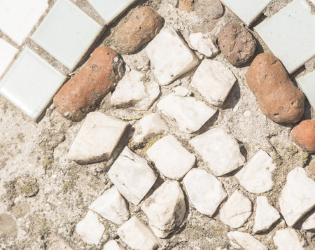 old stones in mosaic
