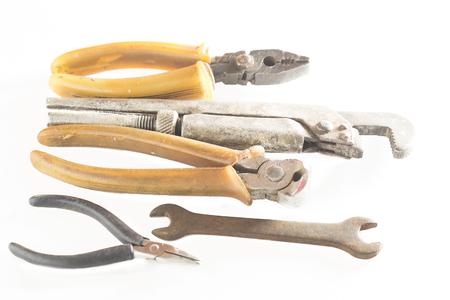 old metal tools Stock Photo