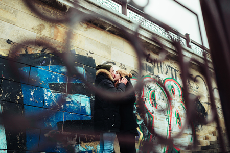 in loved: a man and woman who loved each other Stock Photo