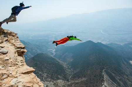コロラド州の base-jumpers 写真素材