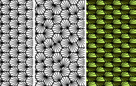 squama: Abstract geometric green and black snake squama seamless pattern