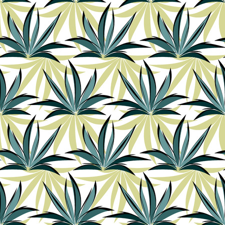 Seamless vector pattern with grass Illustration