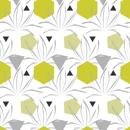 Seamless vector pattern with geometric figures