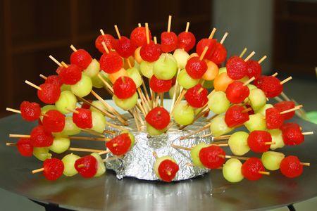 Sweet Skewer - vegetarian dessert color variation