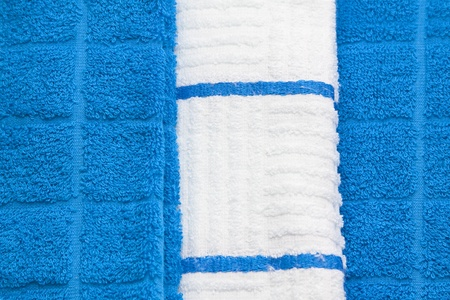 Blue and white towel background photo