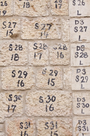 Fragment of the old wall made of the Jerusalem stone Stock Photo - 12722460