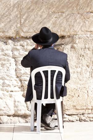 Jews praying at the Western Wall - Jerusalem