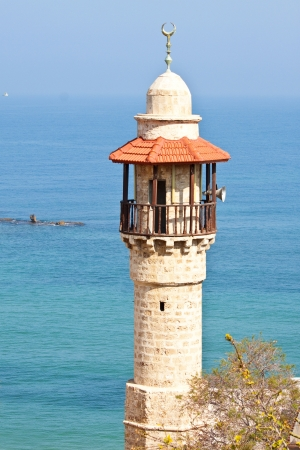 Jaffa's Sea Mosque Minaret Stock Photo - 13618552