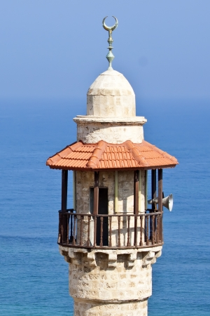 Jaffa's Sea Mosque Minaret Stock Photo - 13618465
