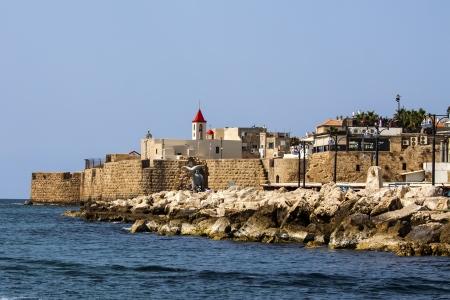 a view of Akko ancient city walls Editorial