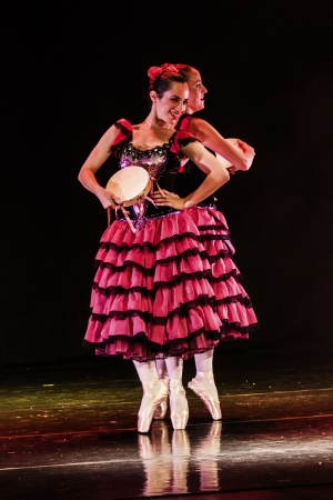 Netania -JULY 12: Final concert of the School of Ballet on July 12, 2012 in Netania, Israel. Concert at the performing arts center of Netania