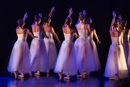bailarina de ballet: Concierto de la Escuela de Ballet Foto de archivo