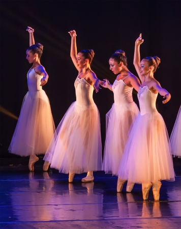 balletic: Netania -JUNE 17: Final concert of the School of Ballet on June 17, 2013 in Netania, Israel. Concert at the performing arts center of Netania. Editorial