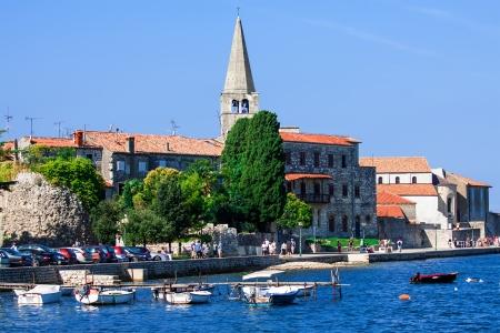 Porec - old Adriatic town in Croatia Stock Photo