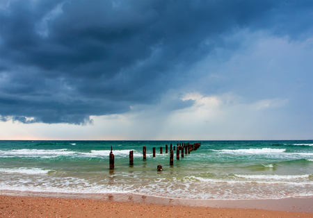 atmospheric: Background of dark clouds before a storm