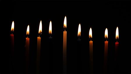 candele Chanukah tutti in fila