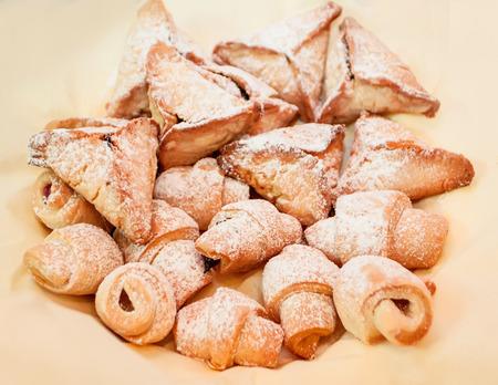 kaya: homemade dessert baked puff pastry Stock Photo