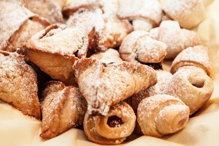 danish puff pastry: homemade dessert baked puff pastry Stock Photo