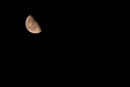 Close up of a moon