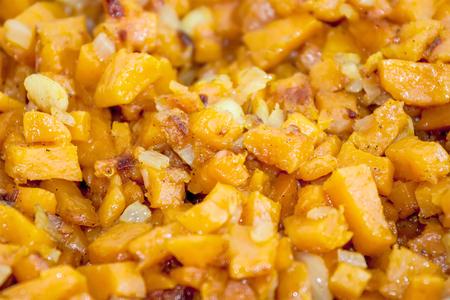 casserole: Sweet potato casserole Stock Photo