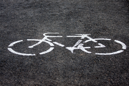monochrome bicycle road sign Stock Photo